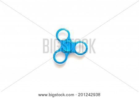 Fidget Spinner In White Isolated Background