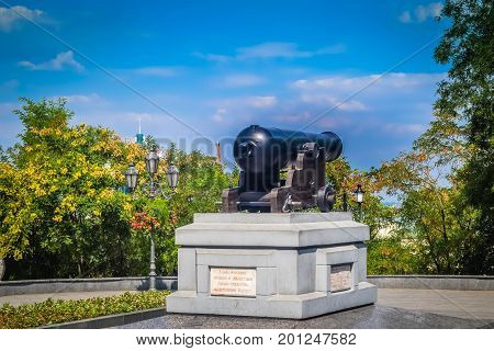 The cannon of the Crimean War in Odessa