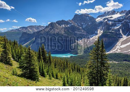 Canadian Rockies, Moraine lake in Banff National Park