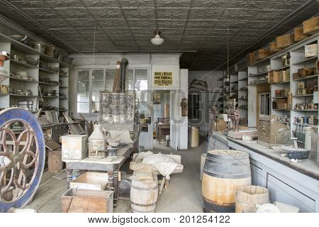 Interior Of Boone Store And Warehouse, Bodie, California