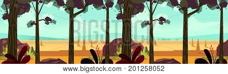 Autumn landscape panorama. Vector illustration for your design