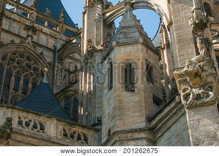 Detail of Saint Barbara church of Kutna Hora, Czech Republic