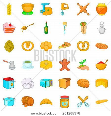 Gastronomy icons set. Cartoon style of 36 gastronomy vector icons for web isolated on white background