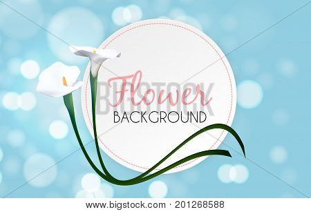 Abstract Floral Background with Calla Flower. Vector Illustration EPS10