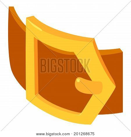 Belt icon. Isometric illustration of belt vector icon for web