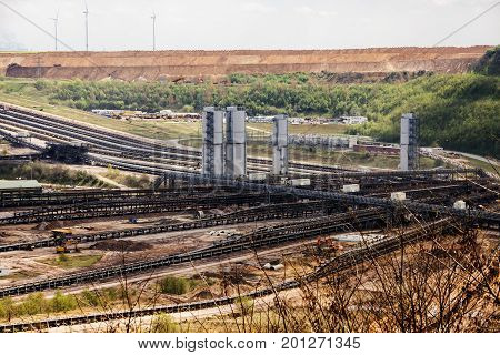 Garzweiler opencast mining lignite North Rhine-Westphalia Germany controversial energy production the large surface mine arouses strong protest among residents and environmental protection