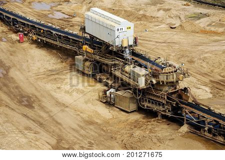 Garzweiler opencast mining lignite operated by RWE North Rhine-Westphalia Germany controversial energy production against environmental protection