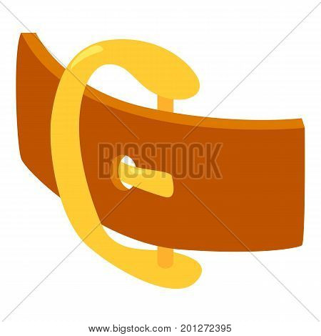 Gold belt icon. Isometric illustration of gold belt vector icon for web