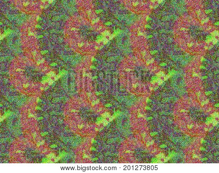 seamless tileable psychedelic colors background texture digital illustration