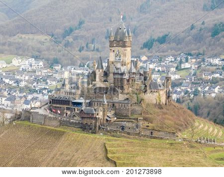 The German hill top castle of Cochem