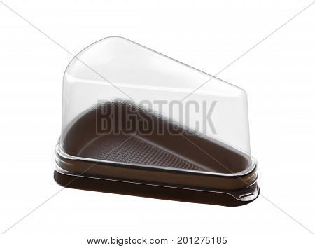 Cake packaging (with clipping path) isolated on white background