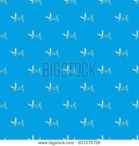 Swiss multipurpose knife pattern repeat seamless in blue color for any design. Vector geometric illustration