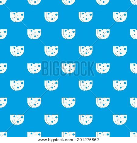 Piece of Swiss cheese pattern repeat seamless in blue color for any design. Vector geometric illustration