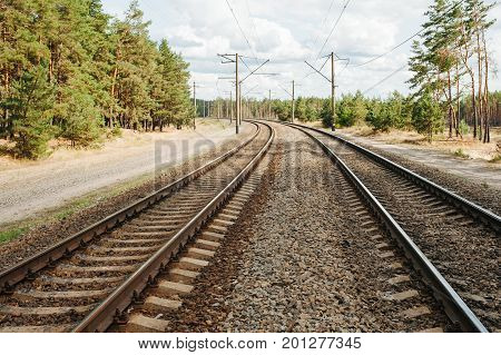 Railroad Train Track.
