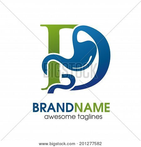 Gastroenterology Health with letter D Logo Logo