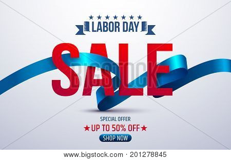 Happy Labor Day.Labor Day Sale promotion advertising banner template.American labor day.Vector illustration.