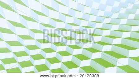 Green Wavy Tiles