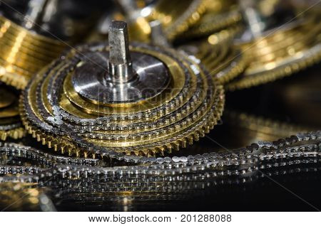 Watch Repair: Vintage Pocket Watch Fusee Chain Coiled Around the Fusee Cone poster