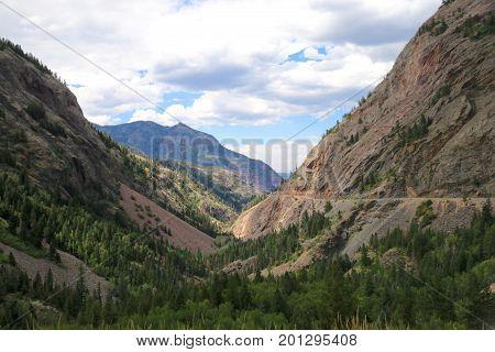 Mountain views of the Alpine Loop in Colorado