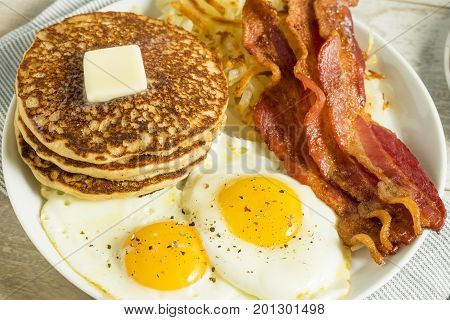 Healthy Full American Breakfast
