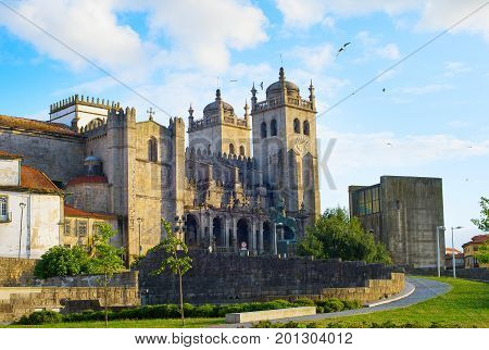Famous Porto Cathedral, Portugal
