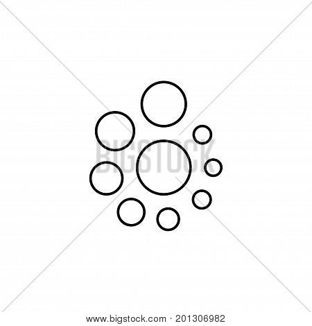 black thin line hand fidget spinner logo. concept of very popular toy gadget for kids or best thing for hyperactivity child. line art style trend logotype graphic art design isolated on white background