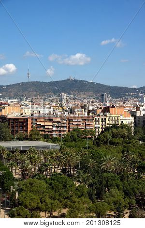 View from Barcelona city located in Spain