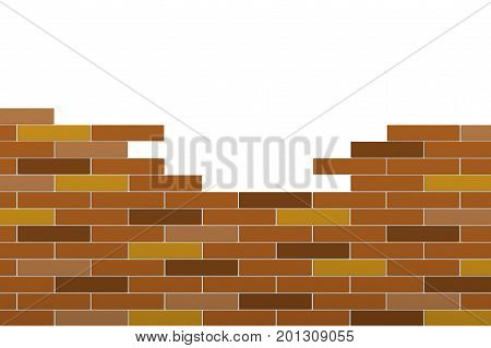 3d render of abstract bricks wall isolated