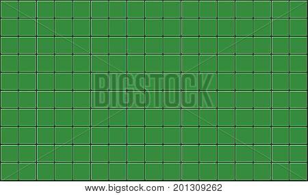 3d render of green tiles texture with black gap