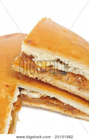 close up of an empanada gallega, a typical cake from Galicia, Spain poster