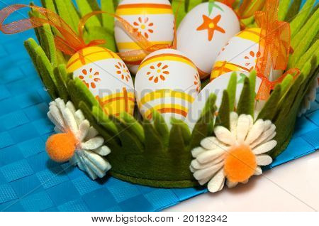Easter egg close up photo