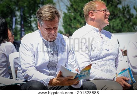 August 19 2017. Toronto Canada - Mayor of Toronto John Tory during Largest Ukrainian diaspora celebration of 26 Ukrainian Independence Day at Centennial Park in Toronto ON Canada