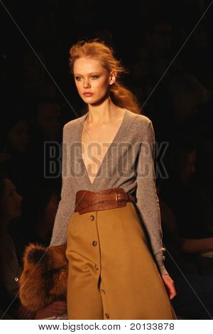 NEW YORK - FEBRUARY 17: Mercedes-Benz Fashion Week presents Michael Kors collections at Bryant Park on February 17 in New York City.