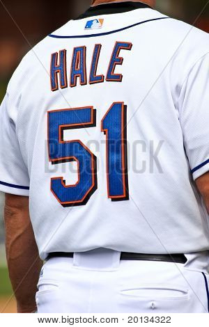 PORT ST. LUCIE, FLORIDA - MARCH 24: New York Mets third base coach Chip Hale at third base during a spring training game against the Houston Astros on March 24, 2010 in Port St. Lucie, Fla.