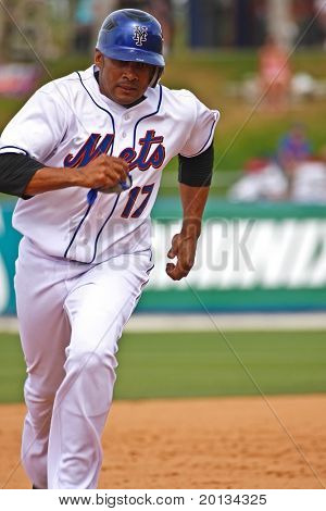 PORT ST. LUCIE, FLORIDA - MARCH 24: New York Mets infielder Fernando Tatis rounds the bases during a spring training game against the Houston Astros on March 24, 2010 in Port St. Lucie, Fla.