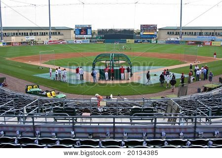 JUPITER, FLORIDA - MARCH 25: The view of the field at Roger Dean Stadium during a spring training game on March 25, 2010 in Jupiter, Fla.