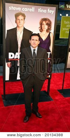 """NEW YORK - APRIL 6: Actor Steve Carrell arrives on the red carpet for the premiere of """"Date Night"""" on April 6, 2010 in New York City."""