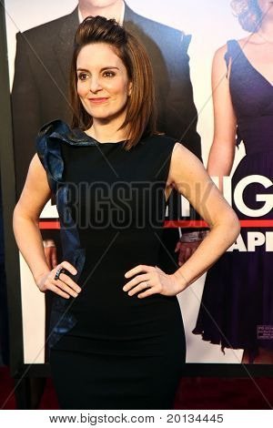 NEW YORK - APRIL 6: Actress Tina Fey arrives on the red carpet for the premiere of