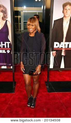 """Tennis star Serena Williams attends the movie premiere of """"Date Night"""" at the Ziegfeld Theatre on April 6, 2010 in New York City."""