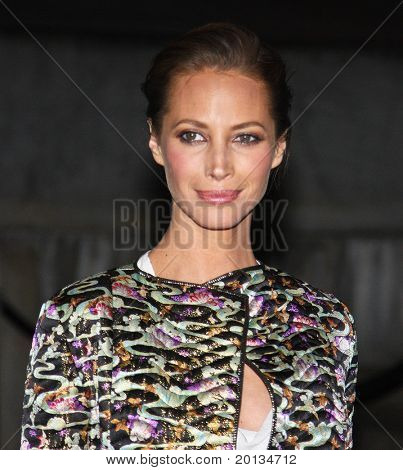 NEW YORK - APRIL 20: Model Christy Turlington Burns arrives at New York State Supreme Court for the Vanity Fair Party during the 2010 Tribeca Film Festival on April 20, 2010 in New York City.