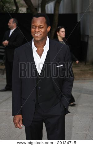 NEW YORK - APRIL 20: Writer Geoffrey Fletcher arrives at New York State Supreme Court for the Vanity Fair party during the 2010 TriBeCa Film Festival on April 20, 2010 in New York City.