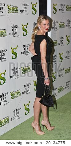 NEW YORK - APRIL 21: Actress Cameron Diaz attends the 2010 TriBeCa Film Festival opening night premiere of 'Shrek Forever After' at the Ziegfeld Theatre on April 21, 2010 in New York City.