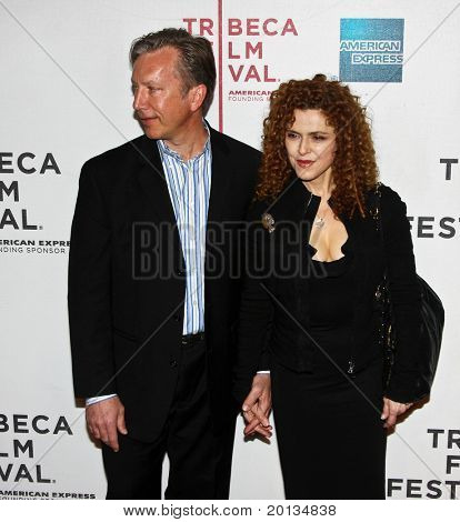 NEW YORK - APRIL 22: Rich Lindey and Bernadette Peters attend the