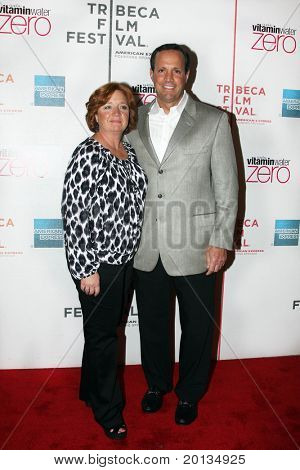 "NEW YORK - APRIL 25: NY Mets Exec VP Dave Howard and wife Nancy attend ""Last Play at Shea"" premiere at TriBeCa Performing Arts Center at the TriBeCa Film Festival on April 25, 2010 in New York City."
