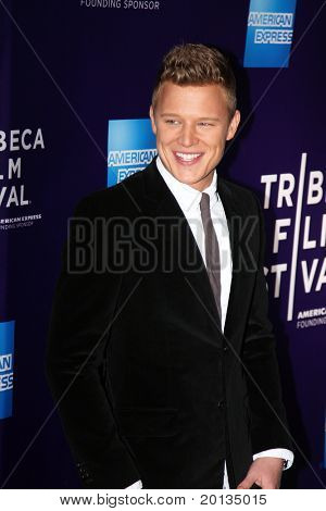 """NEW YORK - APRIL 25: Actor Christopher Egan attends the """"Letters to Juliet"""" premiere at the School of Visual Arts Theater during the 2010 TriBeCa Film Festival on April 25, 2010 in New York City."""