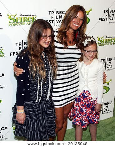 "NEW YORK - APRIL 21: Reality star Kelly Bensimon and guests attend the ""Shrek Forever After"" premiere at the Ziegfeld Theatre during the 2010 TriBeCa Film Festival on April 21, 2010 in New York City."