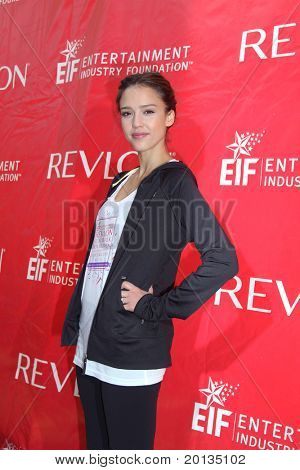 NEW YORK - MAY 1: Jessica Alba attends the 13th Annual Entertainment Industry  Foundation Revlon Run/Walk for Women at Times Square on May 1, 2010 in New York City.