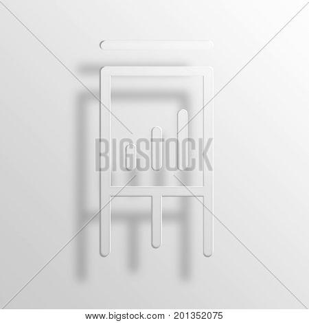 flipchart 3D rendering Paper Icon Symbol Business Concept
