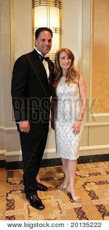 NEW YORK - MAY 8: Baseball catcher Mike Piazza and actress Jane Seymour attend the cocktail party for the Ellis Island Medal of Honor awards at the Ritz-Carlton hotel on May 8, 2010 in New York City.