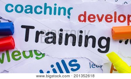 Training banner ,Training for learn, skill, productivity, capacity building, knowledge, development